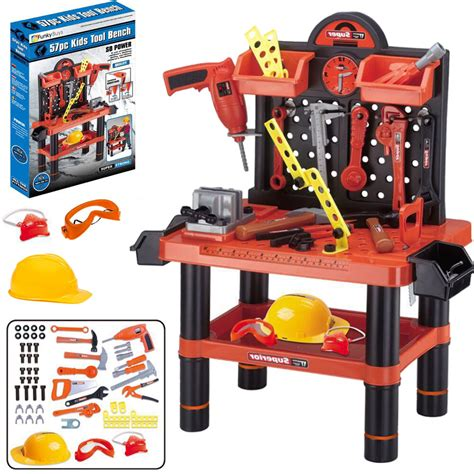 Children S Tool Bench Playset by 57pc Large Tool Set Work Bench Child Workshop