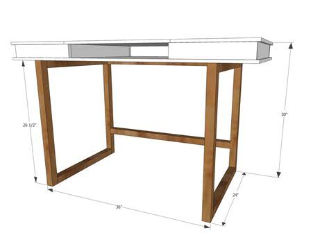 ana white modern  desk base  build   study