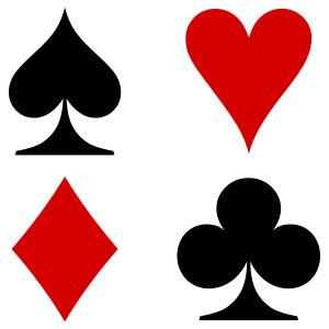 Trick Cards Decks by The Four French Playing Cards Suits Used Primarily In The