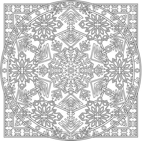 creative haven snowflake mandala colouring book  dover