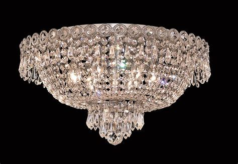 Elegant Lighting 6 Lights Flush Mount Chandelier 1900