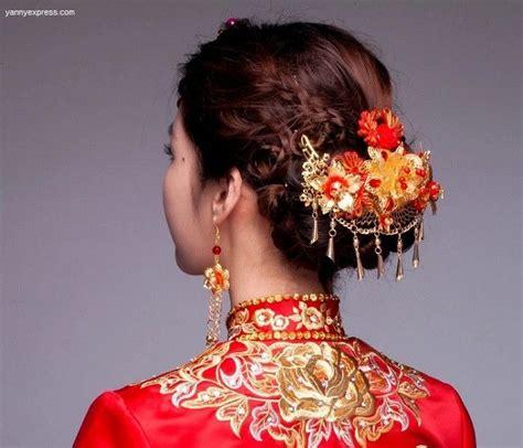 chinese bridal hair comb kwa qun wedding party hair