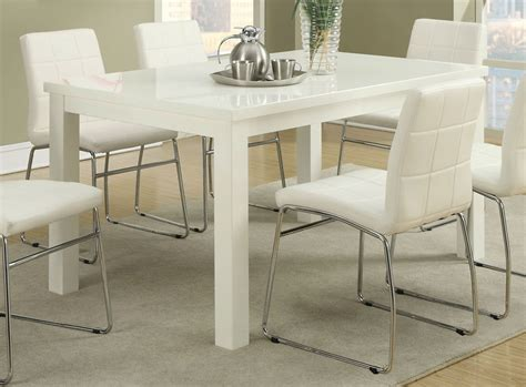 Tisch Weiss Holz poundex f2407 white wood dining table a sofa