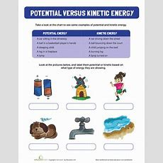 Potential And Kinetic Energy  Worksheet Educationcom