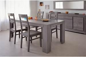 Salle A Manger : ensemble salle manger design ch ne gris 4 chaises ~ Melissatoandfro.com Idées de Décoration