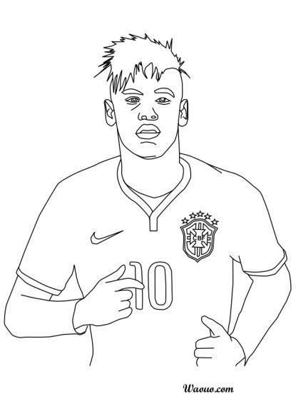 coloriage neymar  imprimer