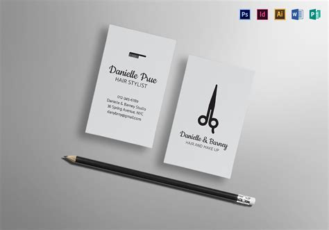 hair stylist business card design template  psd word