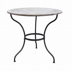 Tisch Mit Steinplatte : eisentisch dublin rund das glashaus ~ Frokenaadalensverden.com Haus und Dekorationen