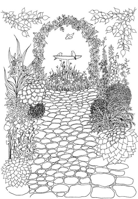 dover whimsical gardens 2 adult coloring pages garden