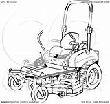 Mower Lawn Cartoon Ride Clipart Vector Illustration Lawnmower Royalty Lafftoon Template Coloring Pages Sketch Law sketch template