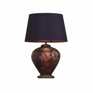fruit flower ginger table lamp with shade lighting and With table lamp shades 40cm