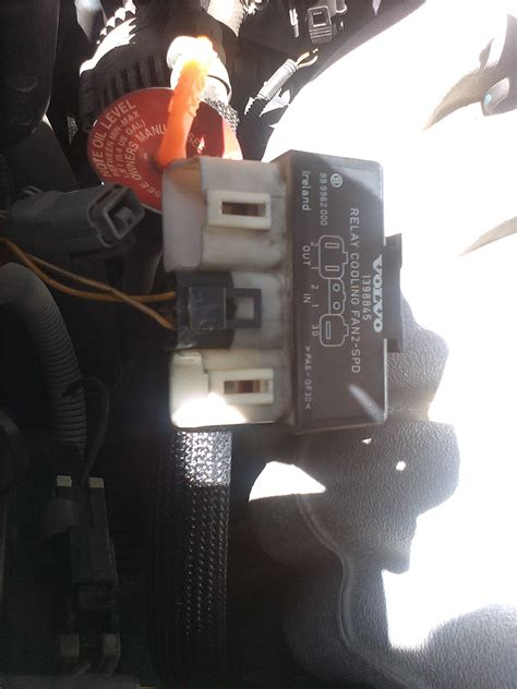 stuck radiator fan relay plug volvo forums volvo