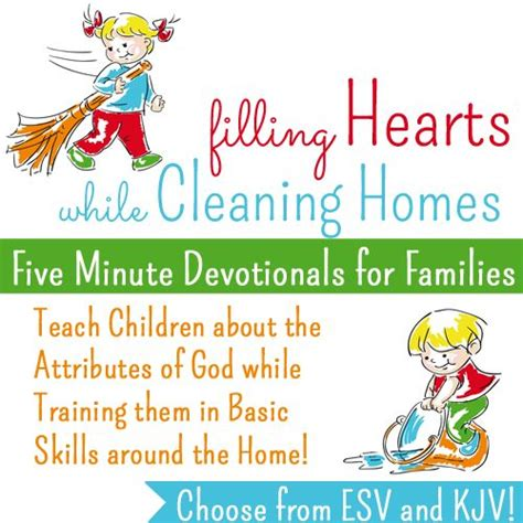 filling hearts while cleaning homes 5 minute devotionals 279 | 88e9ee77c33038510693f1fe044b3e8e devotions for children toddler devotions