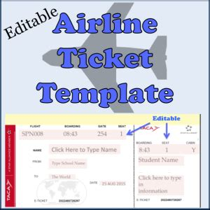 airline ticket template travel documents spanishplans org