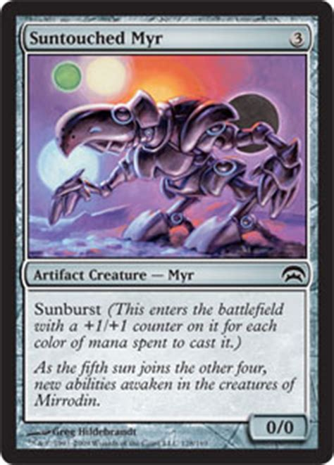 myr budget deck mtg suntouched myr planechase gatherer magic the gathering