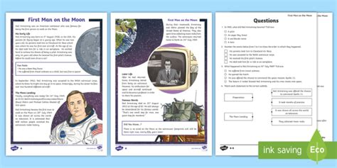 * New * Lks2 Neil Armstrong Differentiated Reading Comprehension