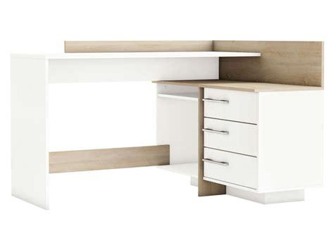 bureau thales bureau avec retour 3 tiroirs thales 2 coloris chêne brossé