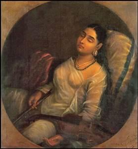 File:Raja Ravi Varma, Lady Resting on the Pillow.jpg ...