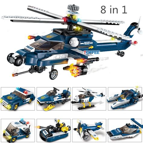 381pcs Attack Helicopter Military World War 2 Soldier Swat