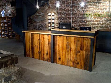 rustic wood cash wrap retail sales counters images