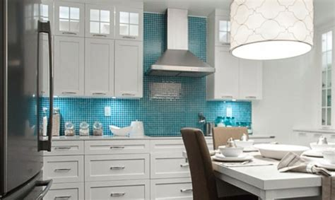 white and turquoise kitchen kitchen white cabinets turquoise tile new apartment pinterest