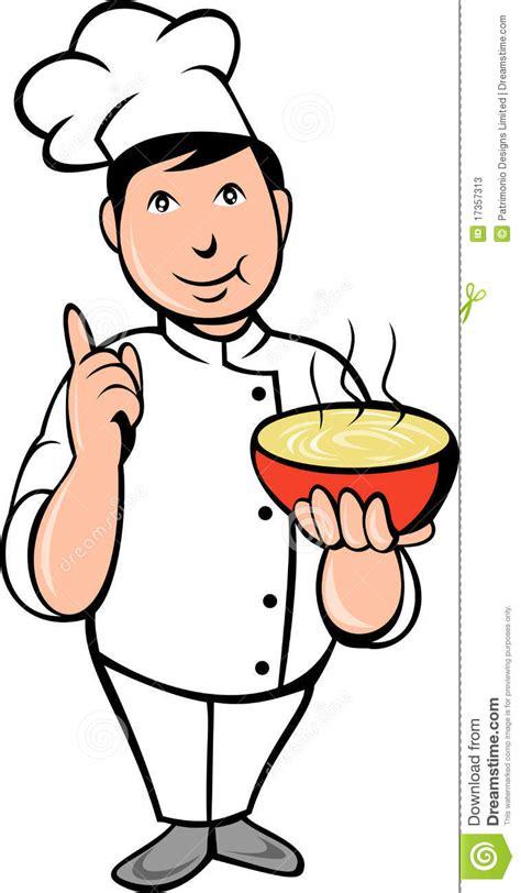cuisinier dessin couleur potage de cuvette de cuisinier de chef de dessin anim 233