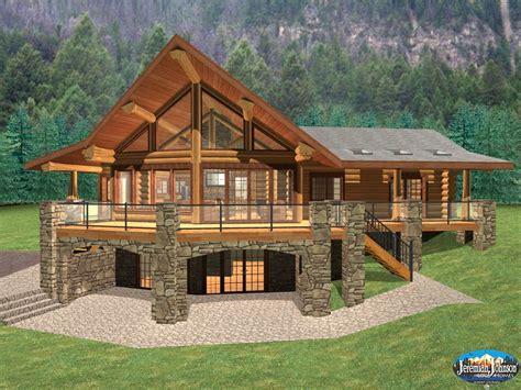beautiful log home basement floor plans new home plans