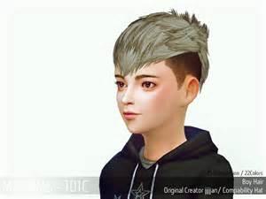 Boy Children Hair CC Sims 4