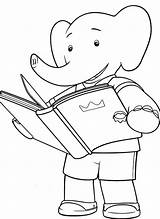 Coloring Pages Reading Teepee Books Cartoon Babar Printable Animal Elephant Toddlers Template Animals Drawing Popular Getdrawings Bestcoloringpagesforkids Colors Getcolorings Categories sketch template