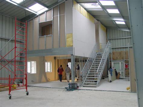 bureau etude batiment hangar métallique galco bipente jumelés intérieur et