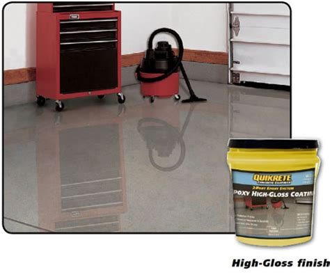 garage floor paint high gloss epoxy high gloss coating quikrete cement and concrete products