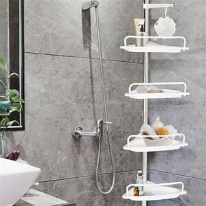 Étagère De Douche : etag re d 39 angle de douche t lescopique chrom e avec 4 ~ Voncanada.com Idées de Décoration