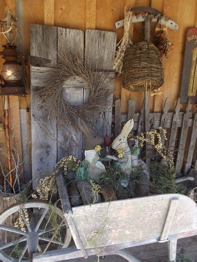 Primitive Spring Thyme Rustic Decorating Ideas
