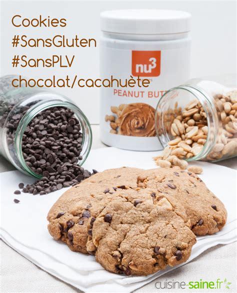 cuisine sans gluten sans lait cookies sans gluten sans plv cacahuète et chocolat