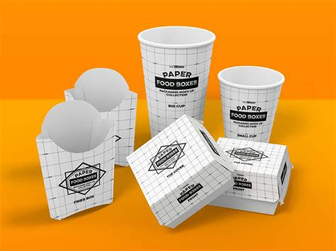 Ready to use in your projects, app and showcases. Fast Food Branding and Packaging Mockup (PSD)