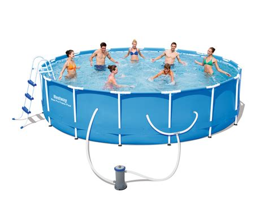 frame pool bestway bestway 14 x 42 quot steel pro frame pool set shop your