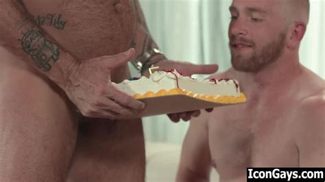 Gay Step Dad Fucking His Birthday Cake Before Screwing His