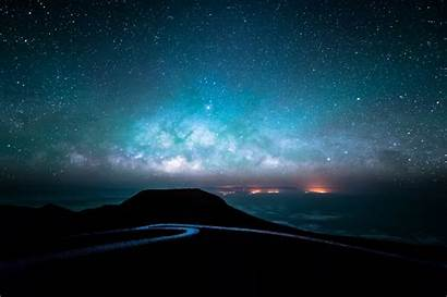 Sky Night Starry Road Wallpapers Nature 4k