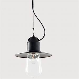 Suspension Industrielle Noire : suspension ampoule au design industriel en c ramique de nombreuses options disponibles ~ Teatrodelosmanantiales.com Idées de Décoration