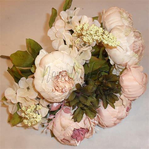 1 bouquet 13head vintage artificial silk fake peony flower