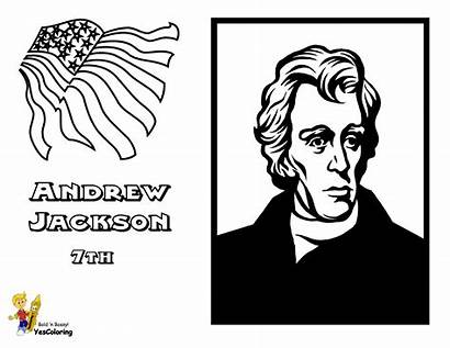 Jackson Coloring Andrew Pages Presidents President Fierce