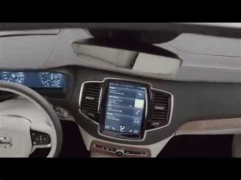 volvo xc  touch screen  head  display