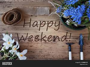 Happy Weekend De : english text happy weekend spring image photo bigstock ~ Eleganceandgraceweddings.com Haus und Dekorationen