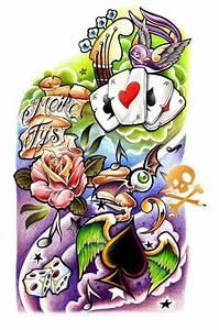 New school tattoo | Tattoo design drawings, Tattoo sleeve ...