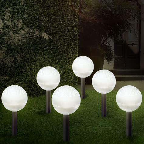 garten licht solar luxus 6er set solar garten led leuchte le beleuchtung dekoration licht dekor ebay