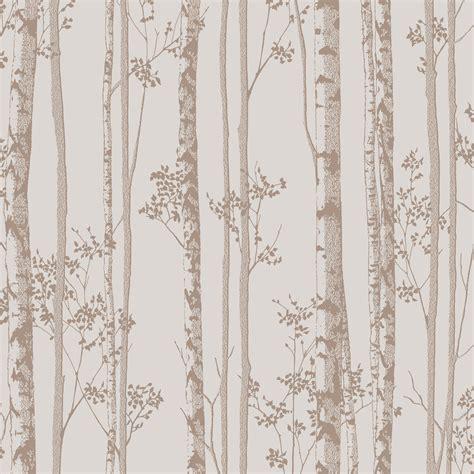 graham brown linden rose gold trees wallpaper