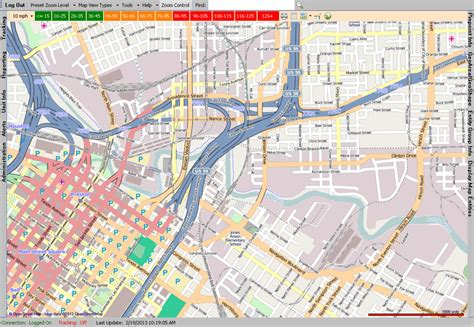 open street tracking map view