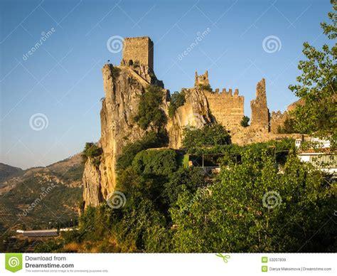 andalusia iruela ancient castle spain rock