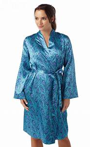 ladies womens silky satin chemise robe set nightdress With robe chemise cintrée