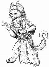 Bard Dnd Hobbit Sketch Coloring Template sketch template